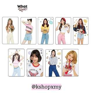 Twice ' What Is Love ' Transparent Photocards