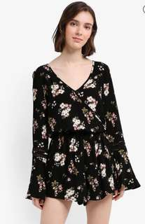 Looking for Long Sleeves Floral Romper
