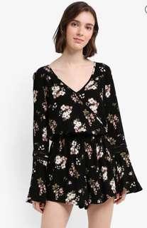 Looking for Long Sleeves Floral Romper
