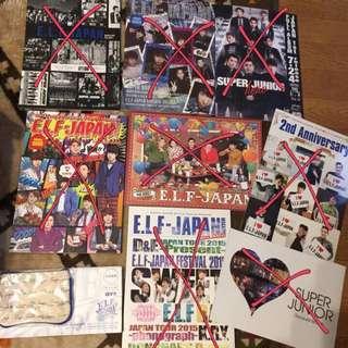 Super Junior日本會員限定周邊(專輯、雜誌、小物)