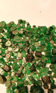 42grams Beautiful deep color  Rough Emeralds from Swat Pakistan
