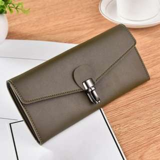[PO463]Korean Leather Long Wallet Purse Coin Card Holder