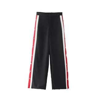 Side Slit Button Pants