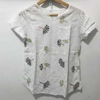 Embroidery Top White