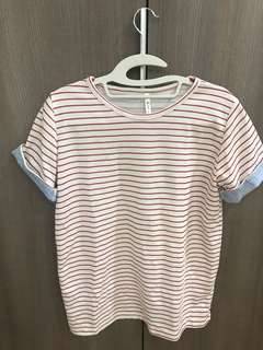 Casual strip t shirt
