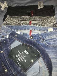 DENIM UNIQLO CEWE AUTHENTIC 100 %