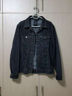 Authentic New Look Washed Black Denim Jacket