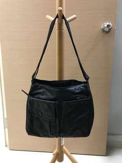 Porter black sling bag