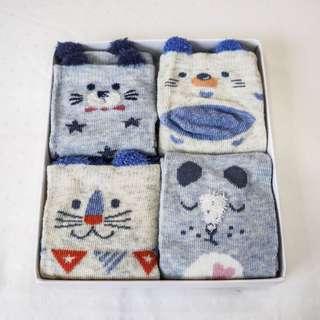 Blue Bear Baby Socks