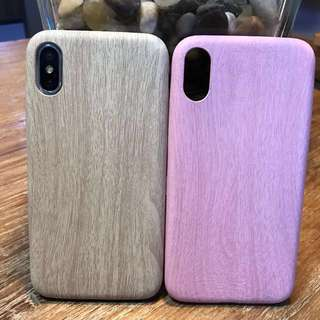 Wood style iPhone 7/7+/8/8+/X case