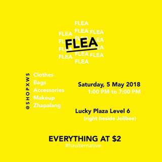 @SHOPXWS FLEA ON 5 MAY SAT 1-7PM AT LUCKY PLAZA L6