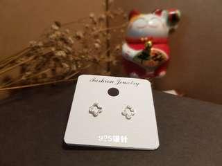925 Silver Earrings [ Clover ]