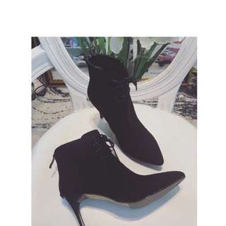 Suede Genuine Leather Ankle Boots