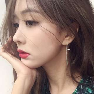 [A61] Minimalistic Dangle Bar Earrings