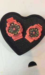 G shock couple watch on hand