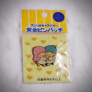 Little Twin Stars 1995年 襟章 襟針 Sanrio Product 日本空運 日本版 珍藏 紀念 小禮物 小吊飾 掛飾(雙星仙子,KiKi&LaLa)(リトルツインスターズ)