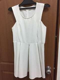 Air space白色氣質洋裝