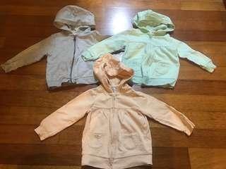 Bundle of three 18 months Carter's Jackets