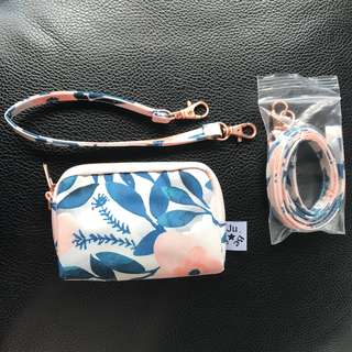 Brand New Whimsical Watercolor Set Small piece and Strap Jujube JJB