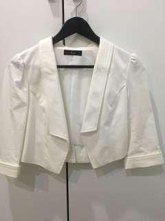 🚚 白色挺版短外套