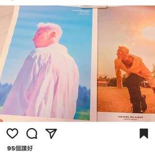 太陽 TAEYANG 3RD ALBUM WHITE NIGHT CD POSTER