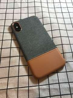 🚚 現貨 iPhone X 質感牛仔布皮布縫線保護殼/保護套