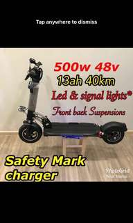 Escooter 13ah 500w 48v new