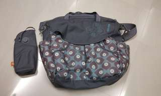 okiedog Damask Sumo Bag (Petrol Blue) by okiedog