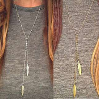 🎀Feather Pendant Long Necklace