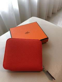 Hermes Silk'in Compact Wallet