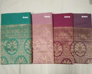 Synthetic Silk Sarees From India (A001 - A036)