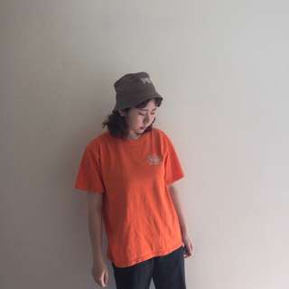 🚚 尼加拉瓜製🇳🇮純棉 滑板橘色短T ❤️賣場任選兩件減100✨古著復古vintage