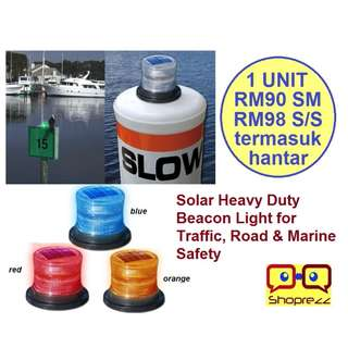 Solar Heavy Duty Beacon Light for Traffic, Road & Marine Safety