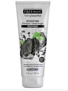 Freeman Beauty Detoxifying Charcoal & Black Sugar Mud Mask