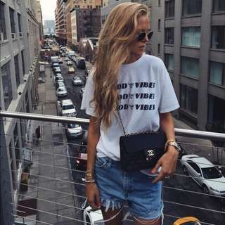 (FLASH SALES) Brandy Melville Ombre Good Vibes Alton Shirt