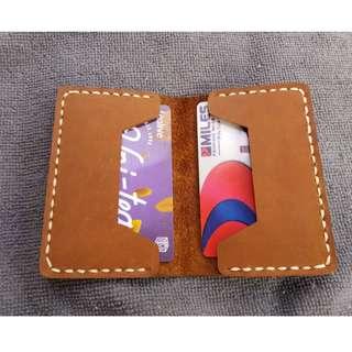 Card ID Holder Genuine Leather Handmade ( Customizable  + engraving)