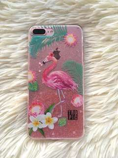 Iphone 7/8 plus glitter flamingo case