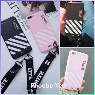 Off-White iPhone / Oppo Phone Case with lanyard