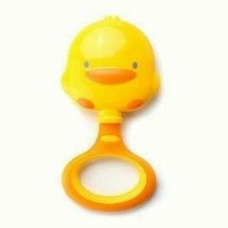 60元含運~限平信~黃色小鴨雙色造型手搖鈴