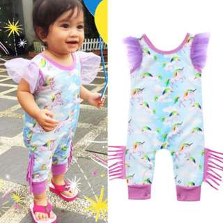 Toddler Baby Girl Unicorn One-pieces Romper Bodysuit Jumpsuit Outfits Clothes