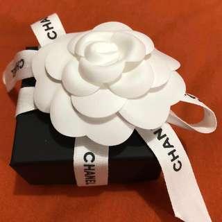Chanel耳環 透藍色閃石膠CClogo