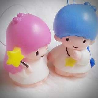 Little Twin Stars 1997年 Sanrio Product 日本空運 日本版 珍藏 紀念 小禮物 小吊飾 掛飾(雙星仙子,KiKi&LaLa)(リトルツインスターズ)