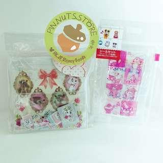 日本disneystore 貼紙包 sticker bambi marie dumbo alice