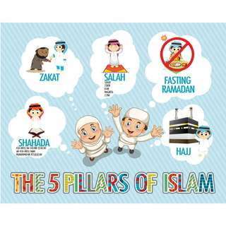Bn Islamic Educational Poster The 5 Pillars of Islam