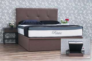 PRINCEBED Revive Mattress with Storage Bed