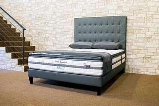 NUSLEEP Sleep Sapphire Mattress w Designer High HB Bed Frame