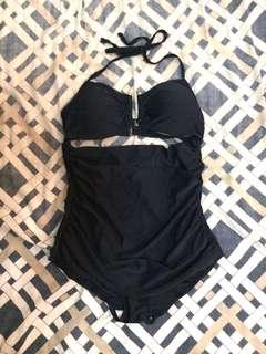 Dark blue one piece swimsuit