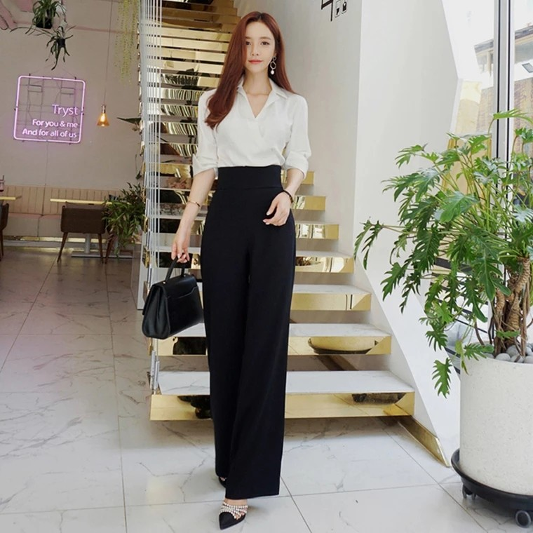 98d58b74759b 2 piece high waisted elegant Jumpsuit for work  office