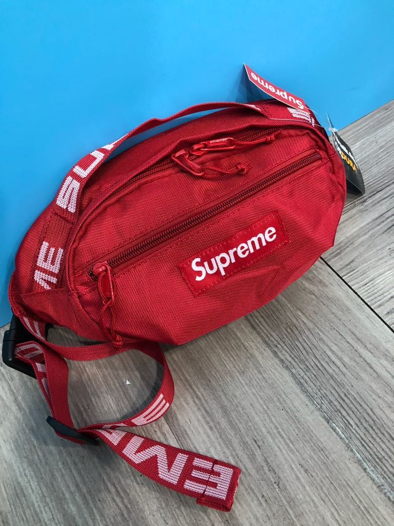 Supreme Waist Bag Ss18 Red Hk Aaa Mens Fashion Accessories On Carousell