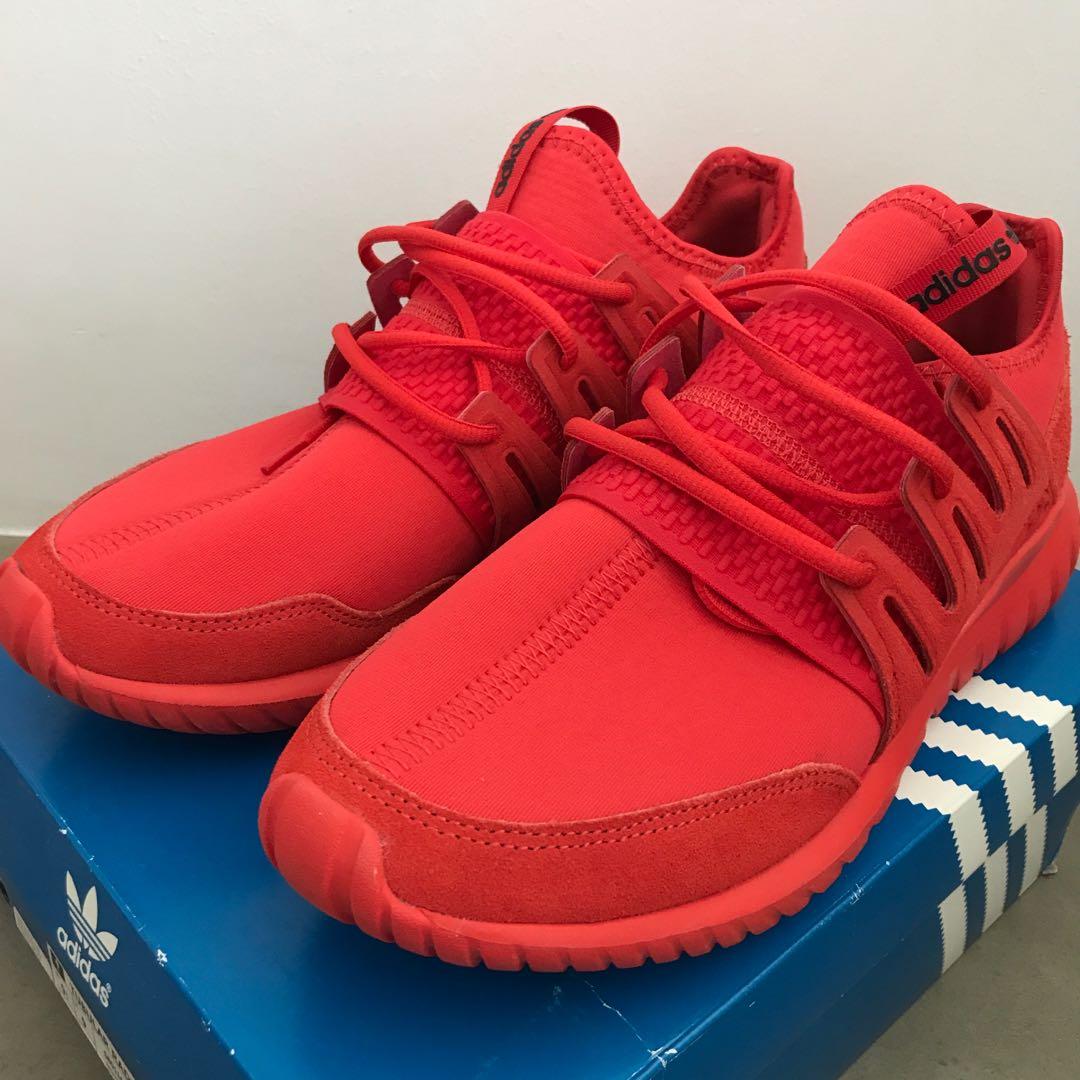 meet 1aa27 ad706 Adidas Tubular Radial RED UK9 US9.5